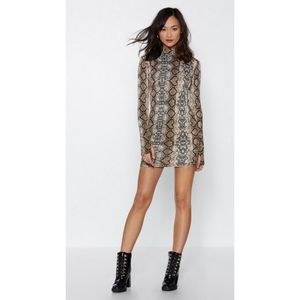 Nasty Gal Snakes Are High Mini Dress
